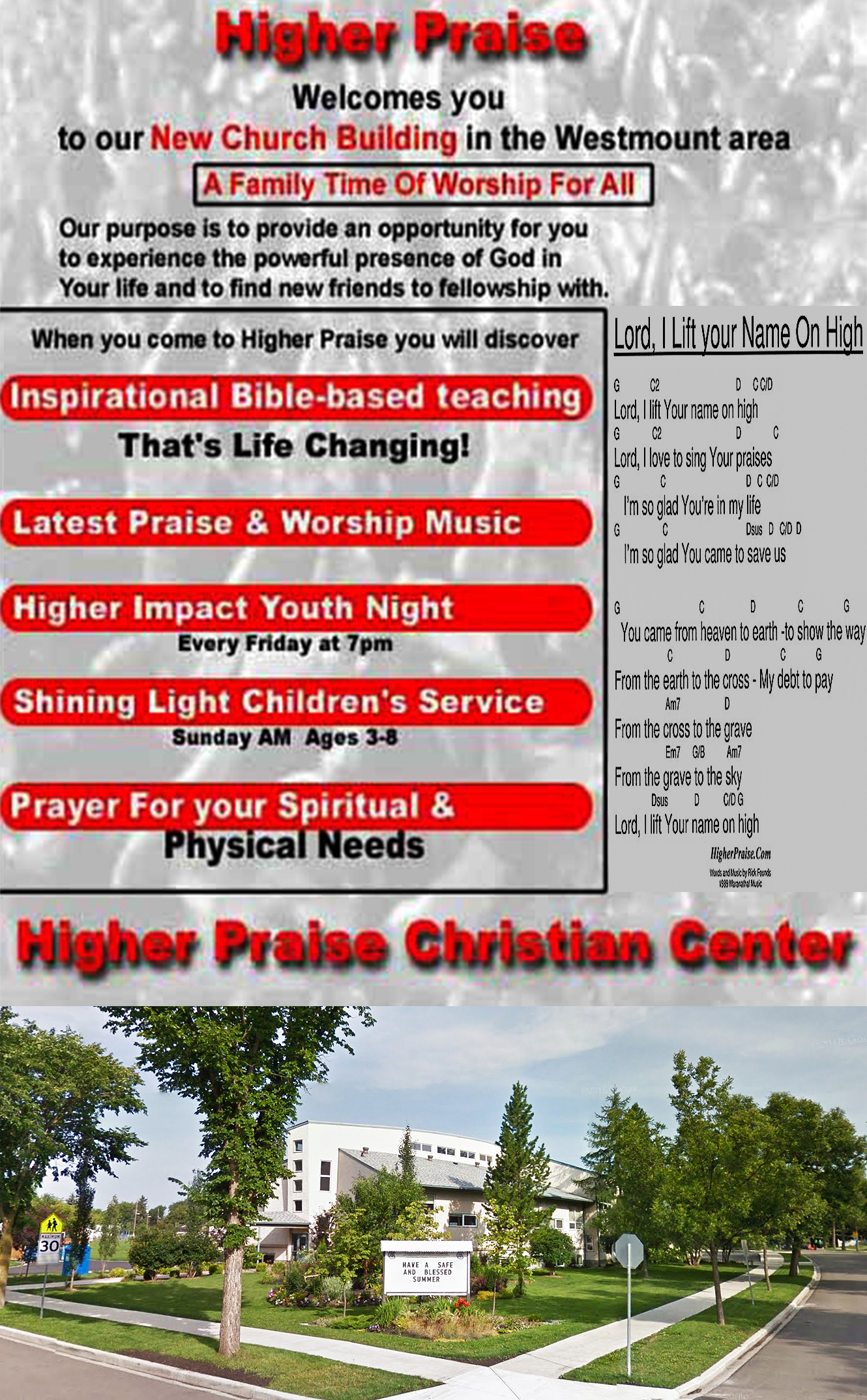 Higher Praise Church - Higher Praise Christian Center - We love to Worship The Lord In Song and By His Word