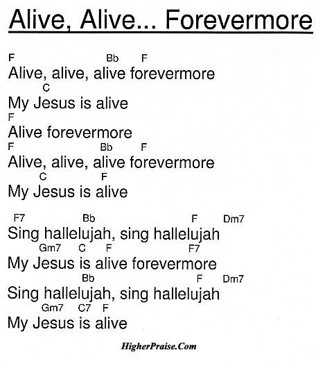Piano piano chords of forevermore : Alive Alive Forevermore Chords by Unlisted @ HigherPraise.com