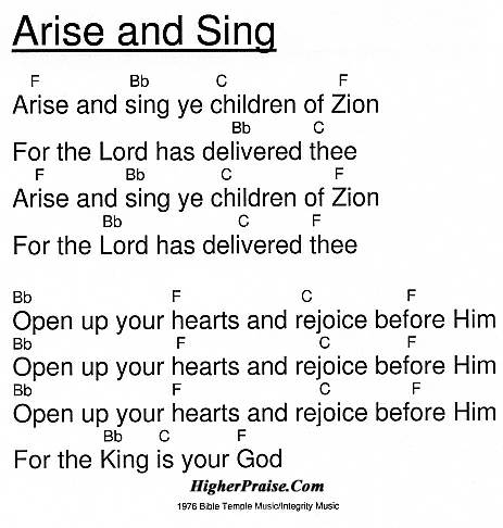 Arise And Sing Chords By Integritys Hosanna Higherpraise