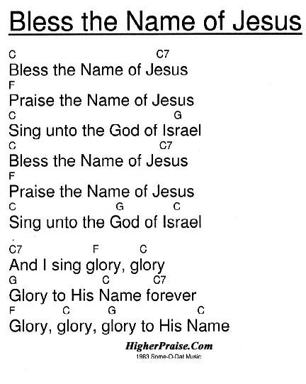 Bless The Name Of Jesus Chords by Som-O-Dat Music