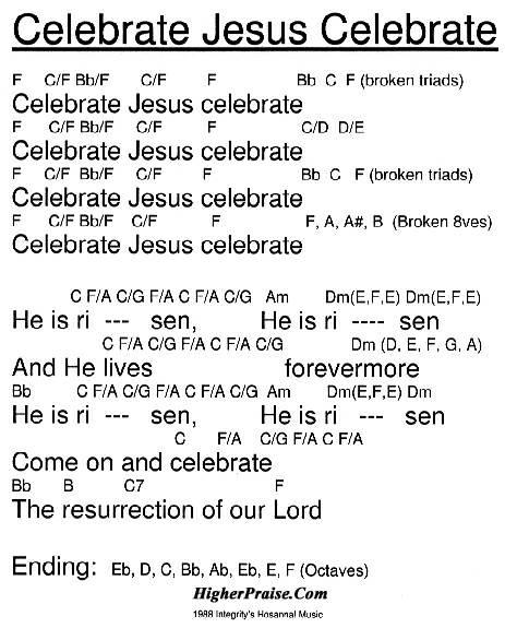 Celebrate Jesus Celebrate Chords by Integrity\'s Hosanna ...