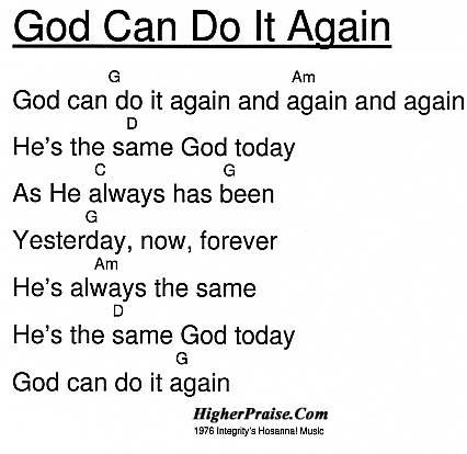 God Can Do It Again Chords By Integritys Hosanna Higherpraise