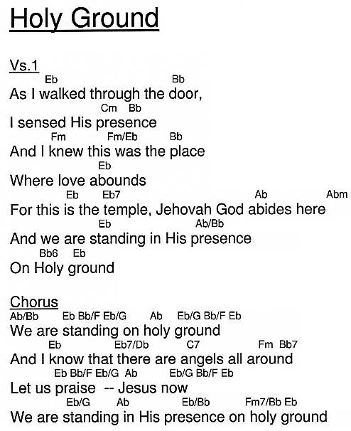 Holy Ground by @ HigherPraise.com