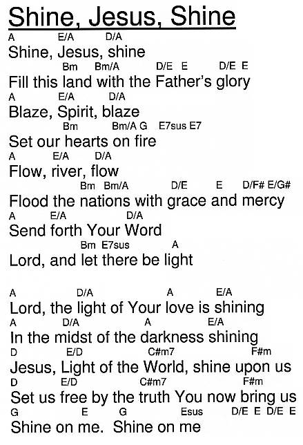 Shine, Jesus, Shine by @ HigherPraise.com
