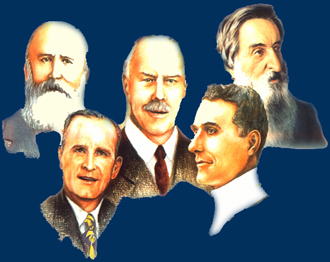 Men That God Used Mightily InThe Past, John Alexander Dowie, William Branham, Smith Wigglesworth, John G Lake And William Booth.