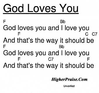 God Loves You Chords By Unlisted At Higherpraisecom