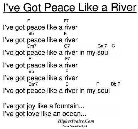 Ive Got Peace Like A River Chords By Come Share The Spirit