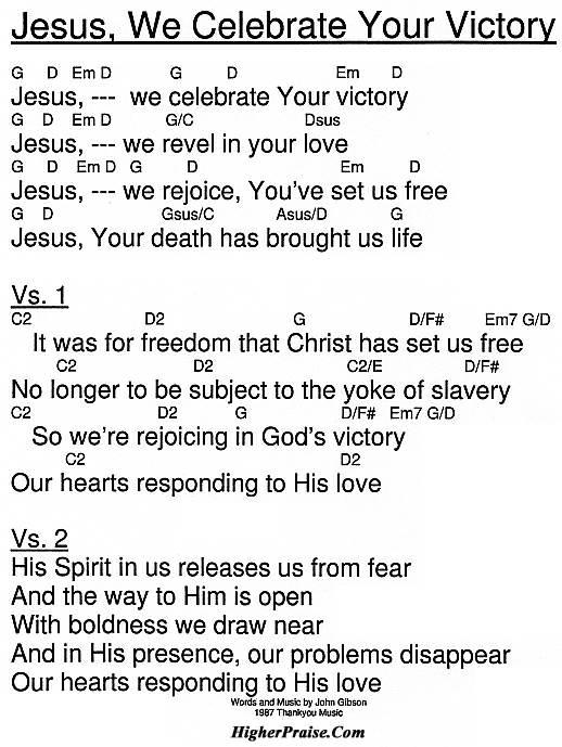 Celebrate Jesus Celebrate Chords Gallery Chord Guitar Finger Position