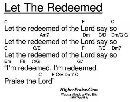 Let The Redeemed Chords by Ward Ellis @ HigherPraise.com
