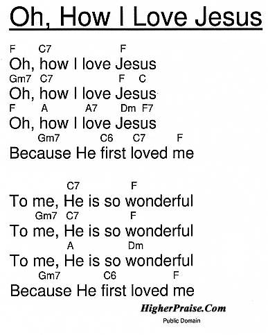 Oh, How I love Jesus Chords by Unlisted @ HigherPraise.com
