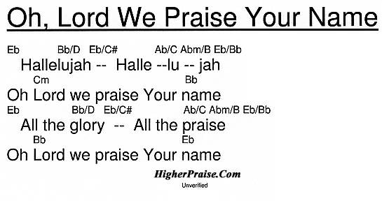 Oh Lord We Praise Your Name Chords By Unlisted Higherpraise