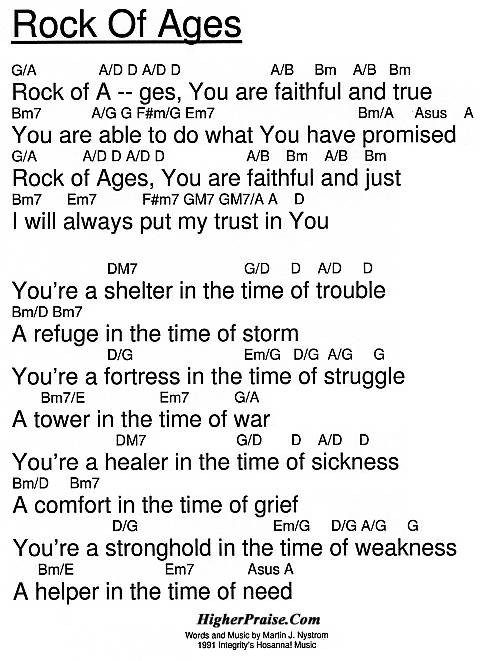 Rock Of Ages Chords By Integritys Hosanna Higherpraise