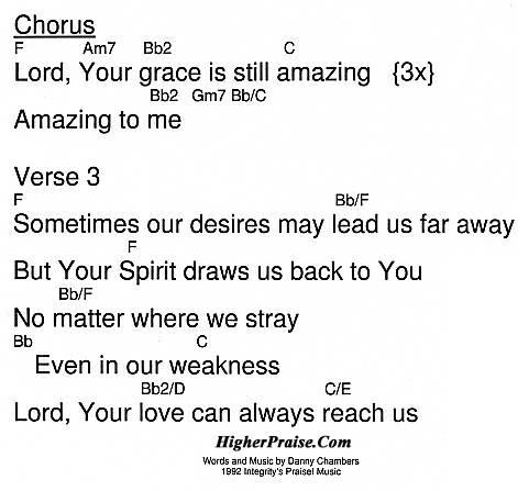 Still Amazing Chords By Integritys Praise Higherpraise