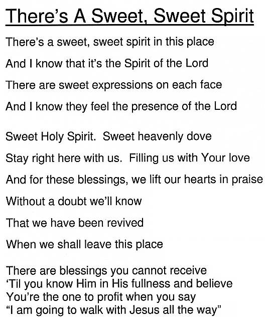Theres A Sweet Sweet Spirit Chords By Manna Music Higherpraise