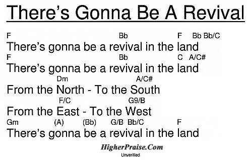 There\'s Gonna Be A Revival Chords by Hosanna @ HigherPraise.com