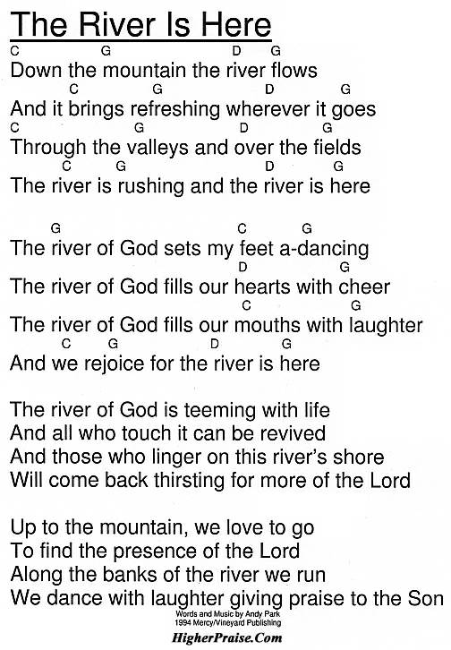 The River Is Here (Shout To the Lord Medley) Chords by Vineyard ...