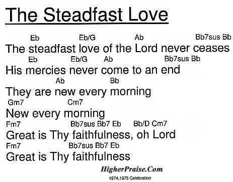 The Steadfast Love Chords by Celebration @ HigherPraise.com